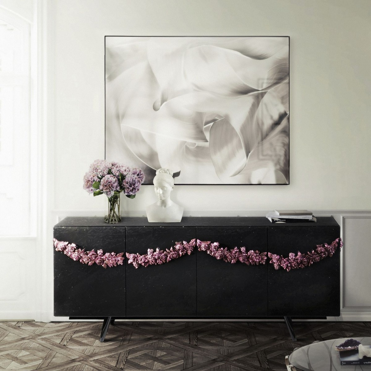 Colorful Sideboard Ideas For A Seductive Living Room Decor