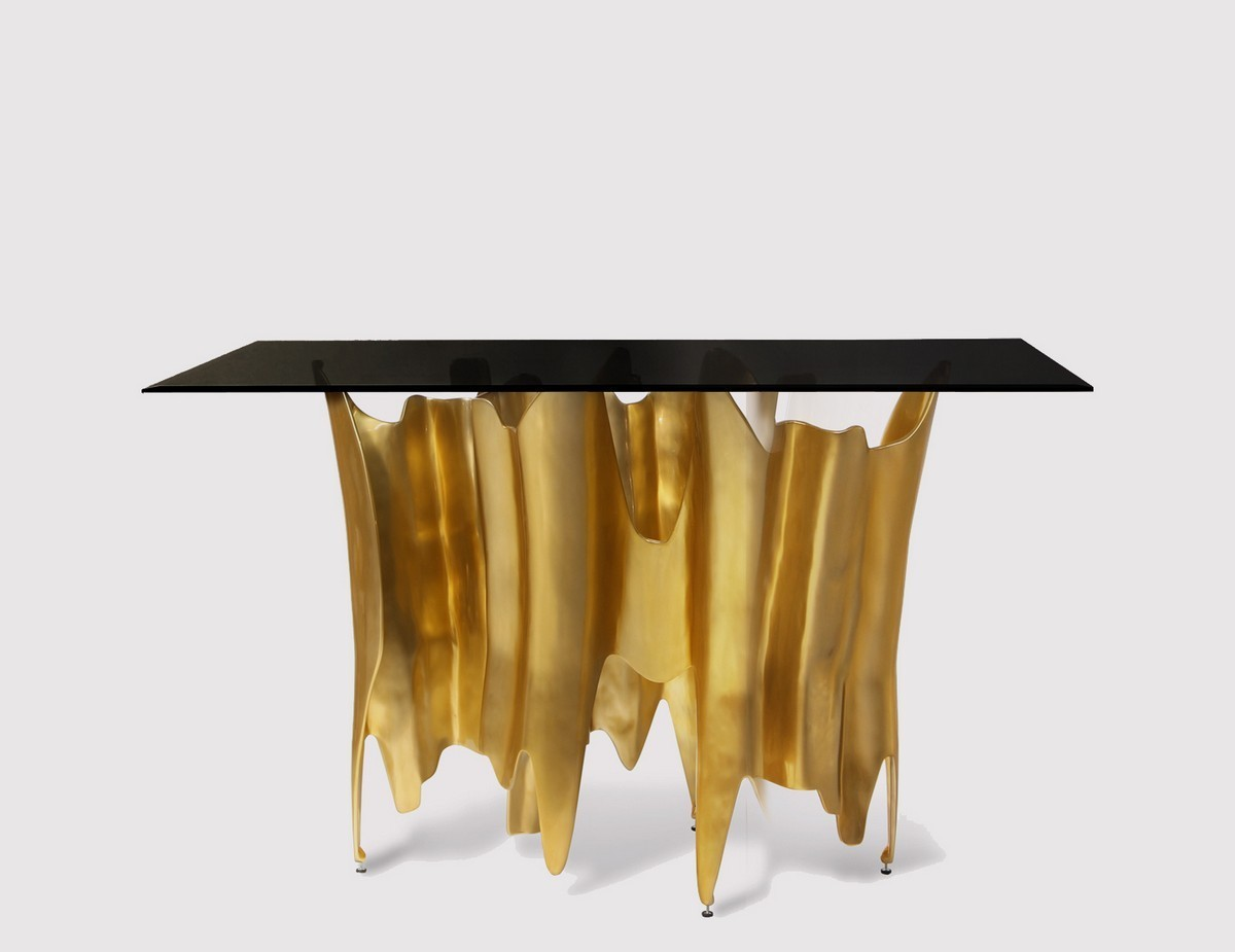 Bespoke Golden Consoles Tables To Make Your Living Room Shine