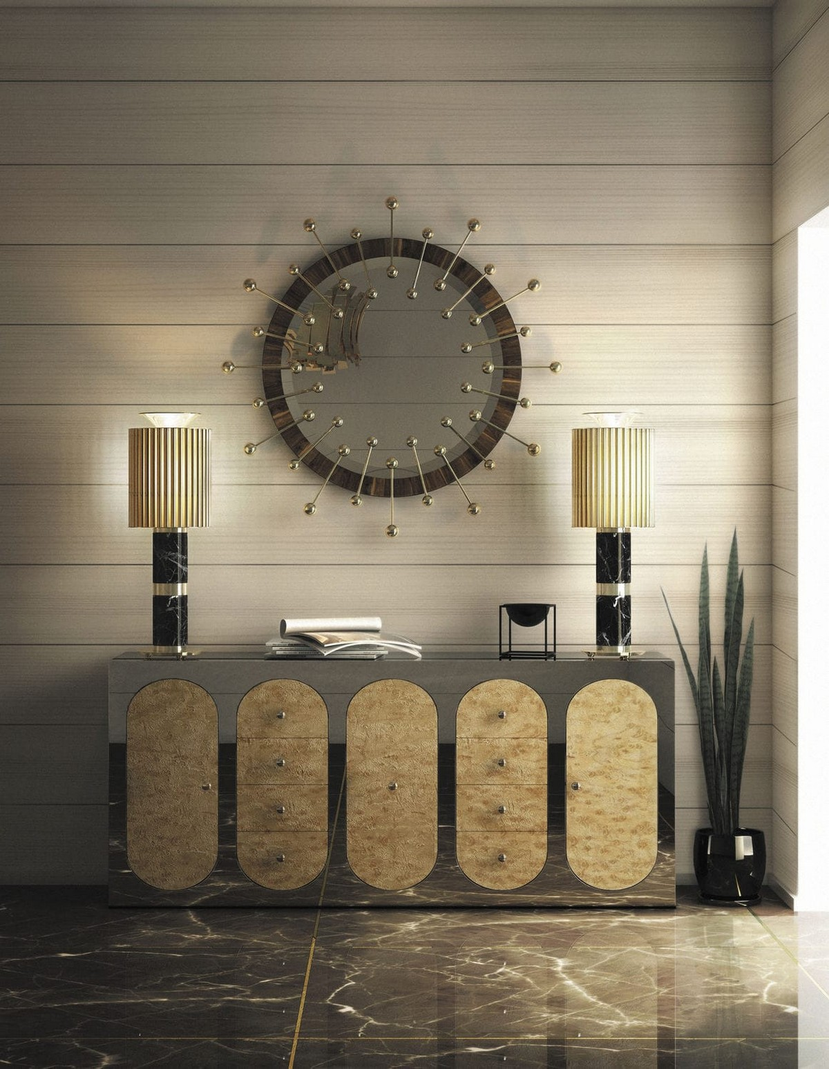 Modern Mirrors To Match Your Living Room Sideboard