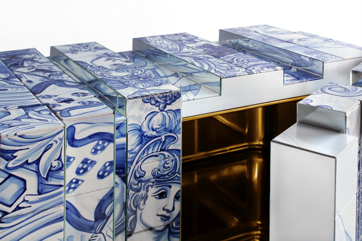 The Unique Sideboard Made With Hand Painted Tiles – Sideboards & Buffets