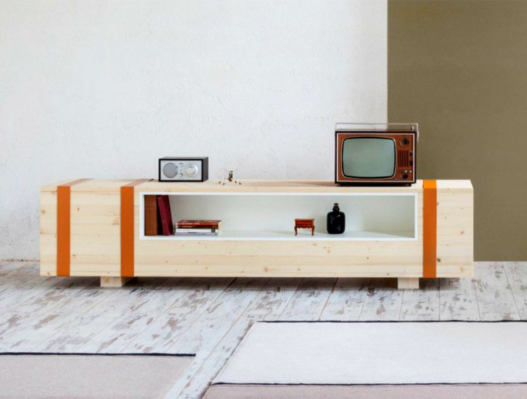 An Old Ammunition Box Is Transformed into a Sideboard | The well known Italian designer Daniele Cristiano created a multifunction storage unit that is shaped to look like a vintage ammunition chest. #interiordesign #sideboard #homedesign #homedecor #buffets