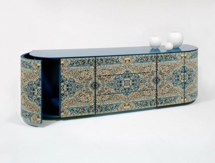 Be Inspired By This Unique Tapestry-Inspired Sideboard Design | Your living room is already beautiful, but you feel like it is missing a statement piece that will be the WOW factor to the room. #interiordesign #sideboarddesign #sideboards #homedecor