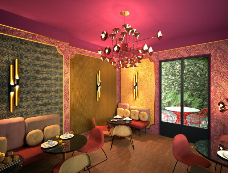 The Grooviest Hotel in Paris Features Unique Lamps From DelightFULL | If you're a true lover of Soul or Jazz Music you truly need to visit the unique, elegant and chic Idol Hotel in the beautiful Parisian streets. #parisdesign #idolhotel #parisdesigners #hoteldesign