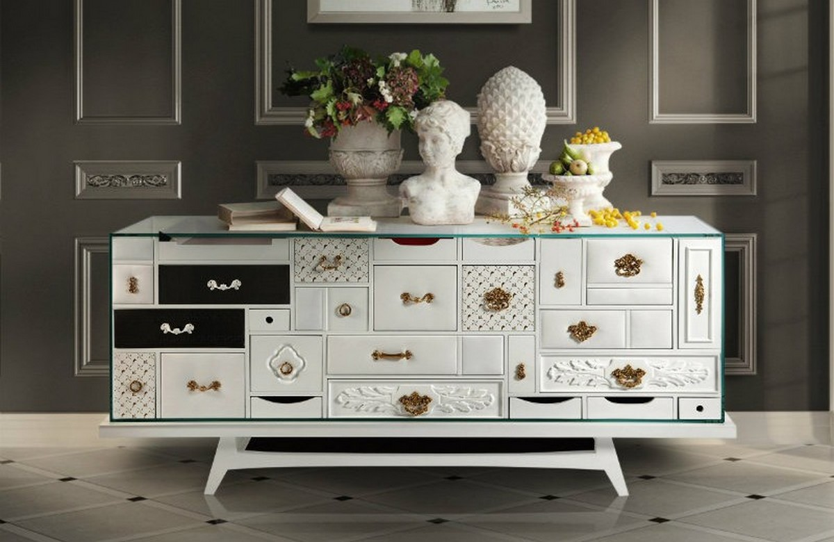 Mondrian Black Sideboard: The Personification of Power And Luxury