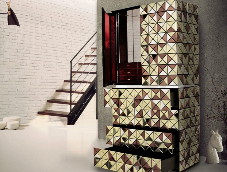 A Gold Luxury Cabinet You Will Fall In Love With