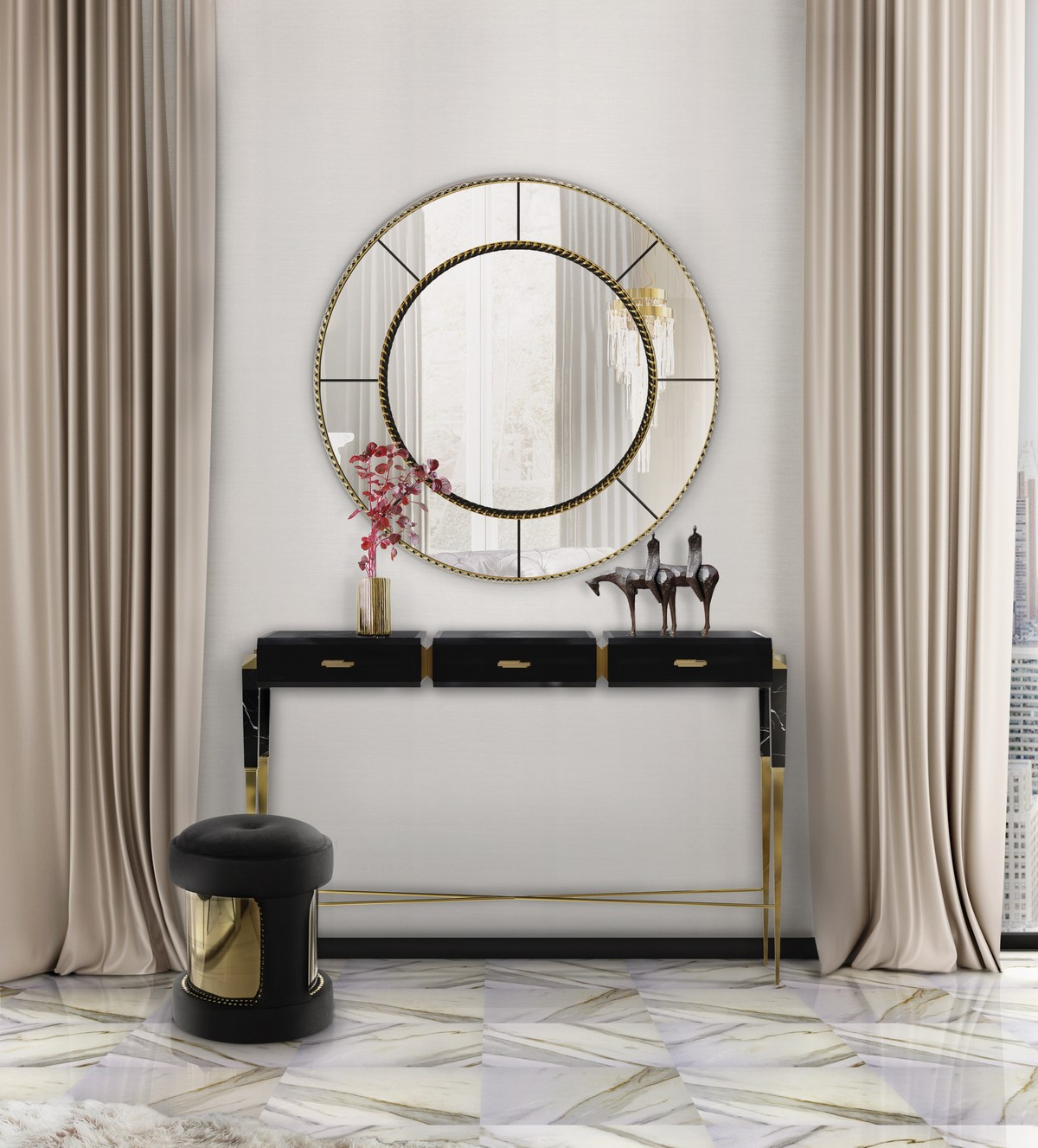 Black and White Console Tables For an Exquisite Ambience