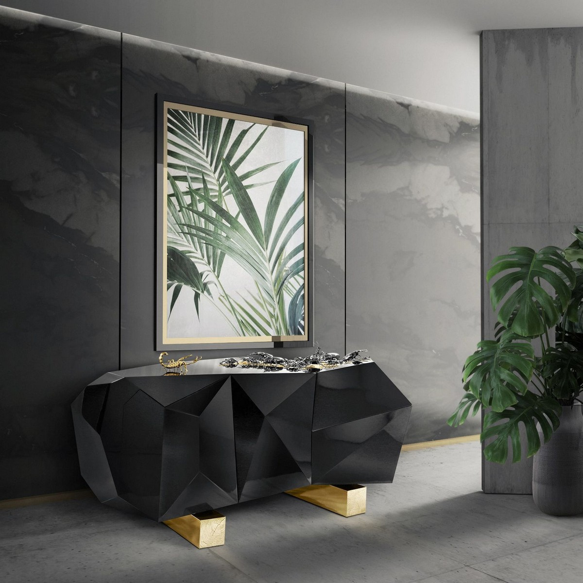 The Diamond Sideboard: Contemporary Design with Luxury Details