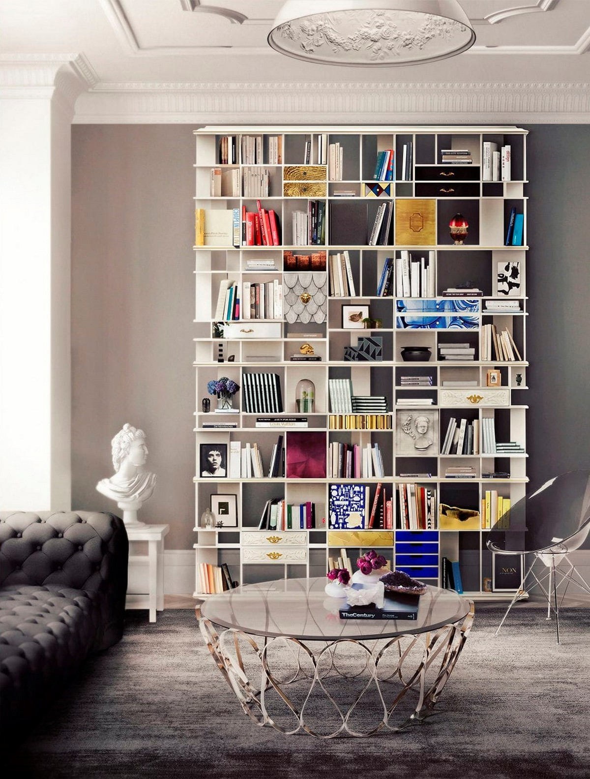 Amazing Living Room Bookcases