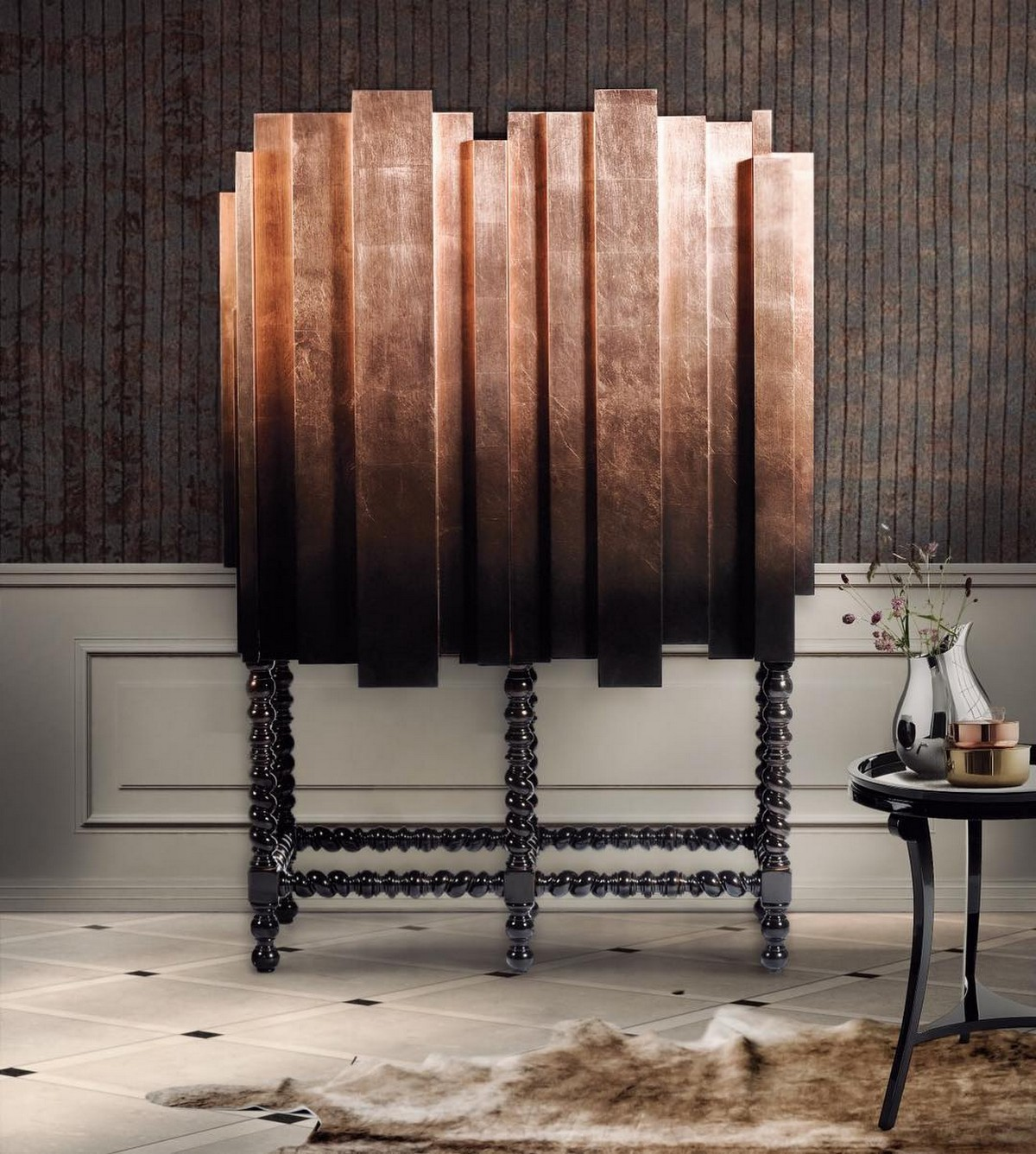 Modern Living Room Cabinets Inspired by History