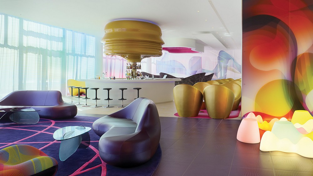 Eccentric Plays of Color From the Future: Interiors by Karim Rashid
