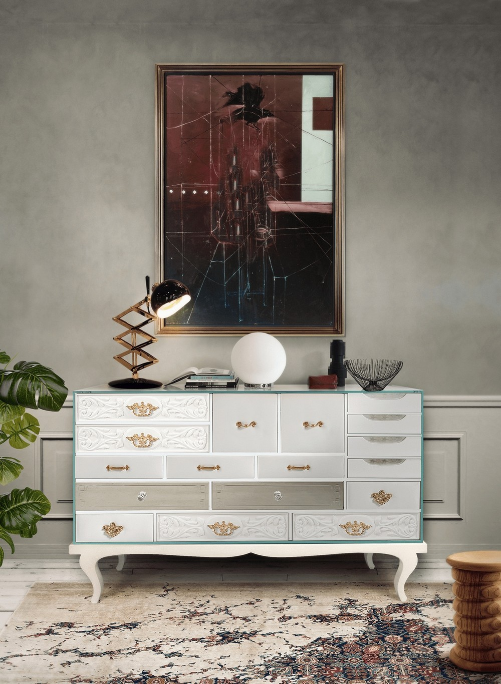 The Color of Purity: Marvelous Luxury Credenzas In White