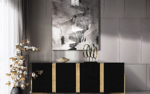 The Color of Mystery: Luxury Credenzas In Black