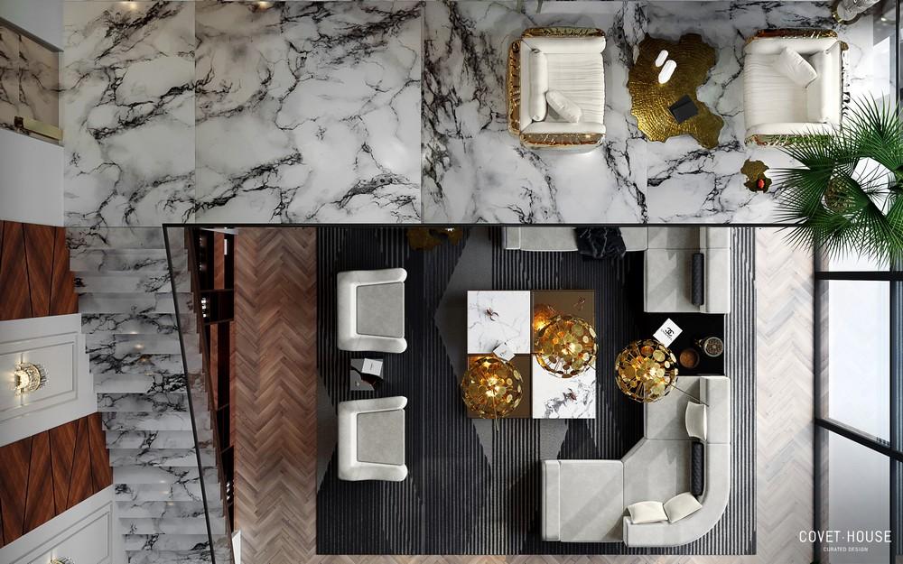 Step Inside An 8.5 Million Modern Classic Villa's Living Room