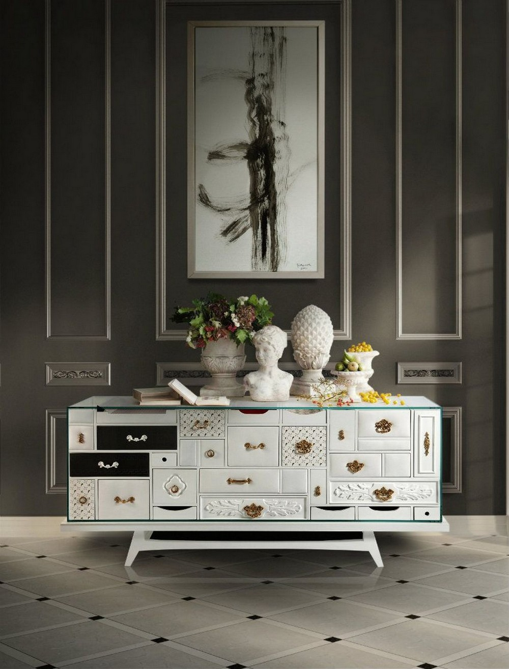 A Tale of Luxe Livability: 10 Sideboard Ideas For You