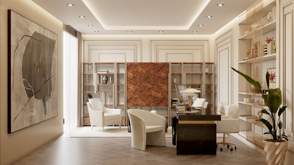 Get The Look Of A Luxury Entryway And Office Inside A Monaco Penthouse