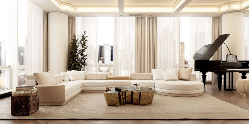 Modern Apartment In NYC: A Neutral Take On Luxury Living Rooms